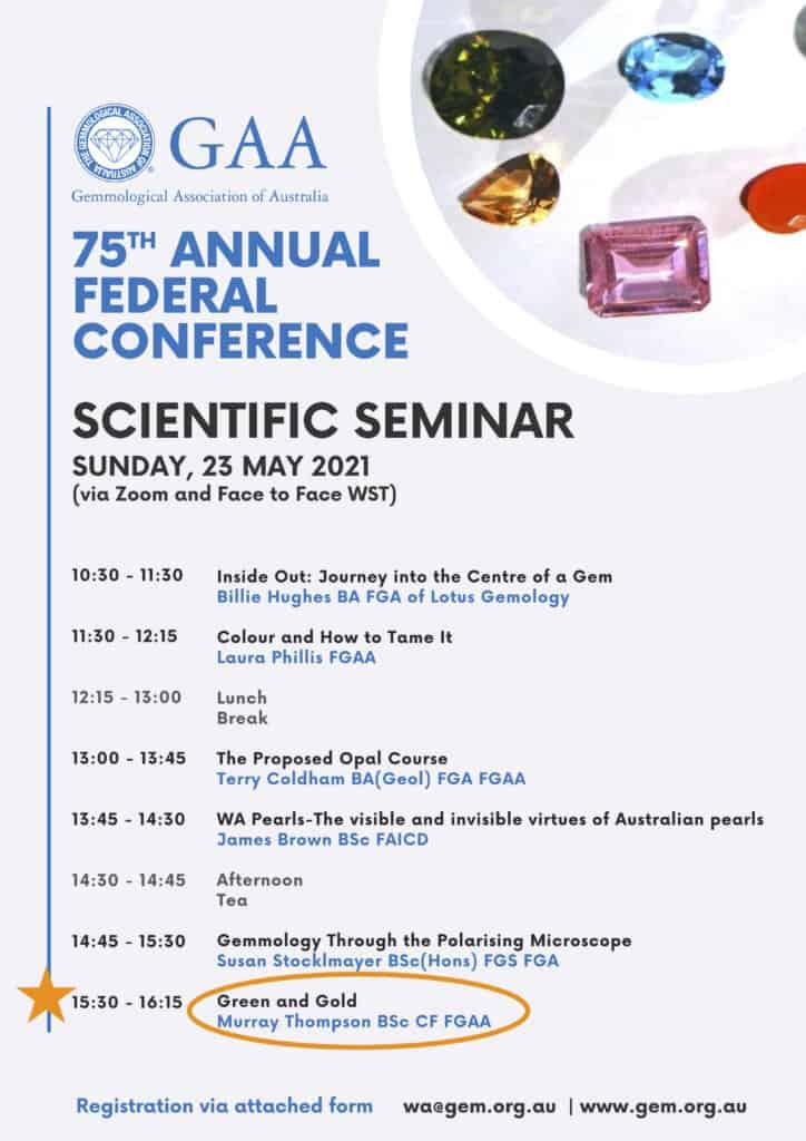 GAA Gemmology Scientific Seminar.May2021