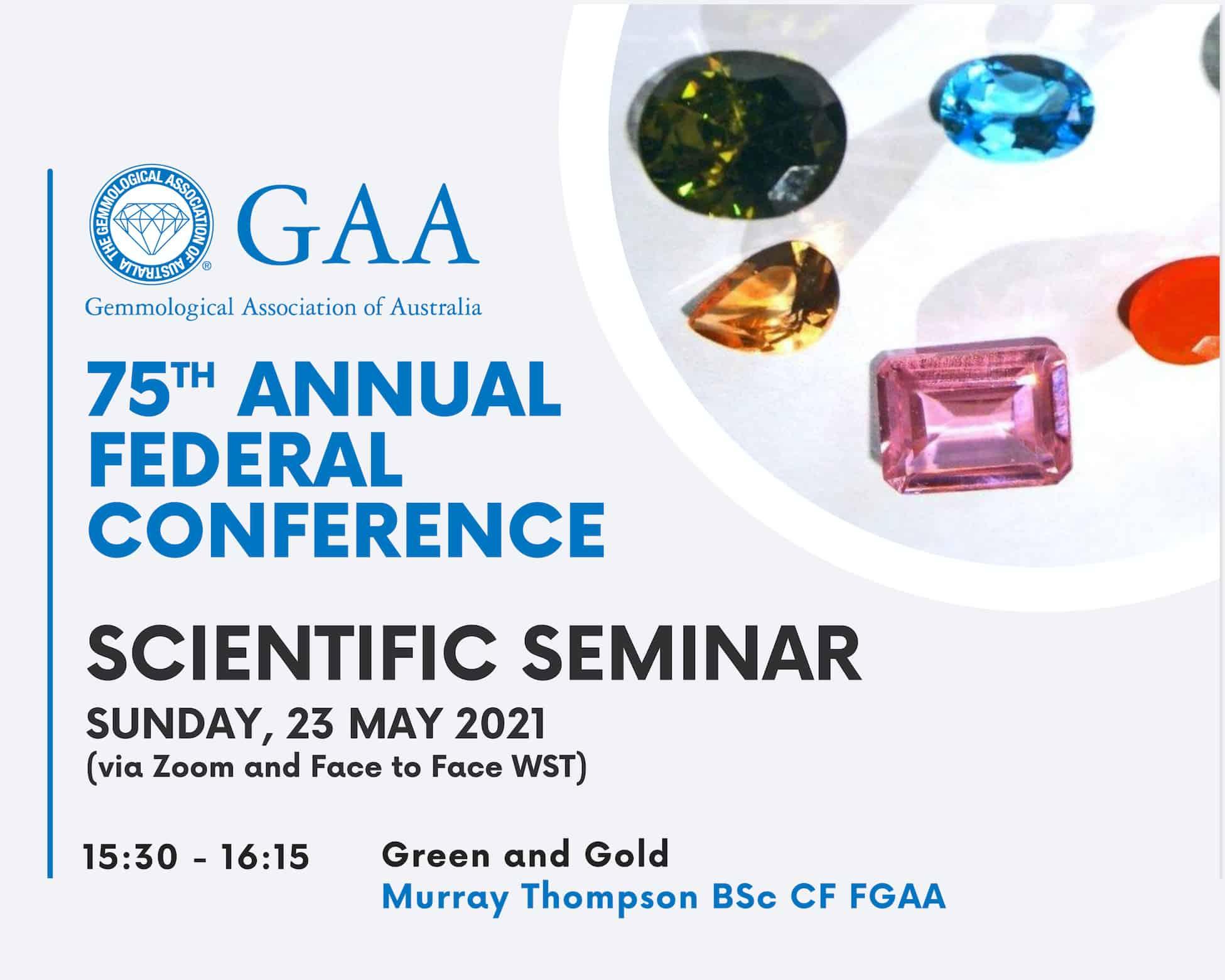 GAA Australia Gemmology Seminar.May2021