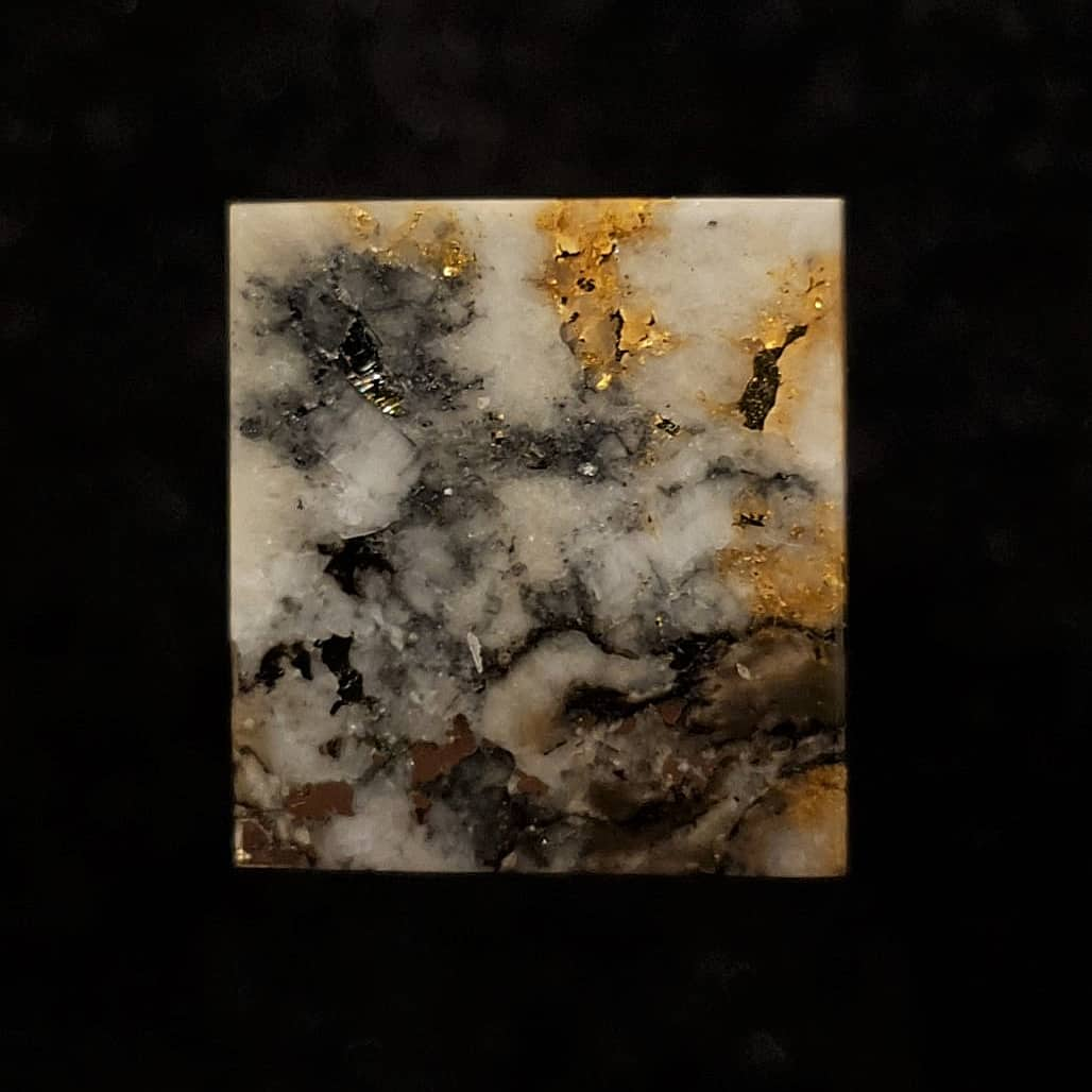 Gold in quartz with matrix