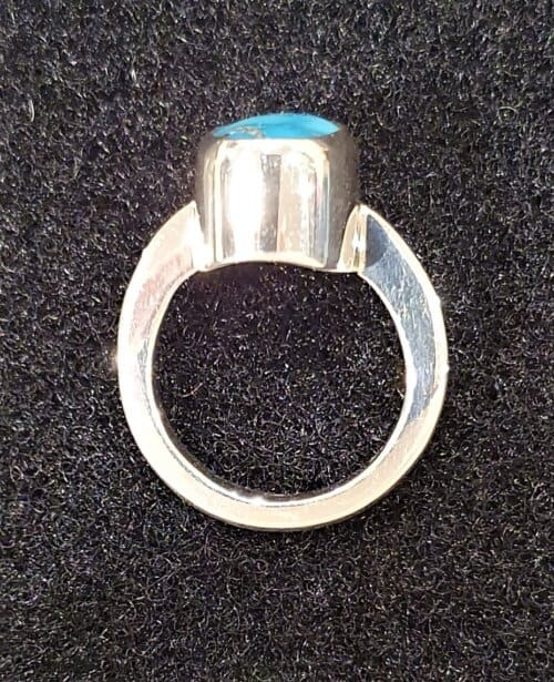 Persian Turquoise ring side profile